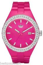 NEW ADIDAS PINK,CRYSTALS+DATE CAMBRIDGE ANALOG WATCH ADH2071