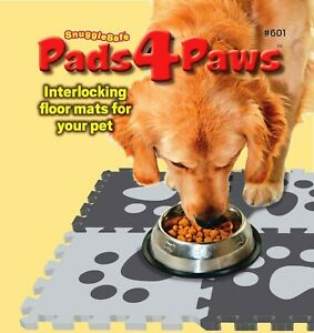 NON SLIP PET FLOOR MAT SNUGGLE SAFE INTERLOCKING MATS SOFT SAFE PETS FOOD AREA