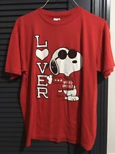 Vintage Snoopy Peanuts t shirt 1971 World's Greatest Lover Large Schultz