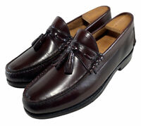 Johnston&Murphy Aristocraft burgundy Leather Tassel Moc Loafer Shoes Mens sz 93E