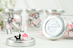 Personalised Wedding Favour Sweet Jars Mr & Mrs Candy Party Favours Wedding Gift