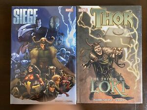 3 Marvel HC LOT Siege (Variant Cover) + Beyond! + Thor Trial Of Loki - NM & NEW