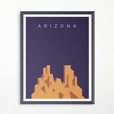 Arizona The Grand Canyon Travel Print Minimalistic Poster Original