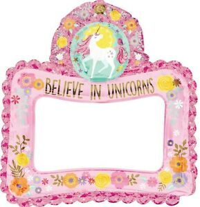 MAGICAL UNICORN INFLATABLE SELFIE FRAME ~ Girls Birthday Party Favor Decorations