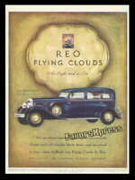 Vintage 1930 REO FLYING CLOUDS SEDAN CAR AD MAGNET ~ Thin Flexible 4x3 in.