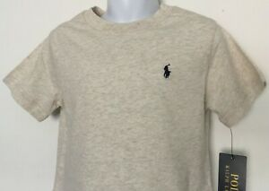 Polo Ralph Lauren Little Boys Cotton Jersey Crewneck Tee Beige Heather 3/3T NWT