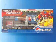 Transformers Pepsi Optimus Prime Figure by Hasbro 2007 NEW SEALED MIB