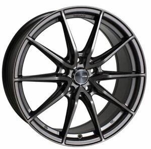 18x8 Enkei Rims DRACO 5x108 +40 Antrhracite Rims Fits Ford Taurus Sho Mercury