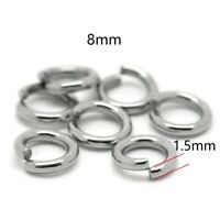 Wholesale 8x1.5mm 15Gauge Stainless steel Open Jump Rings super strong Jump Ring