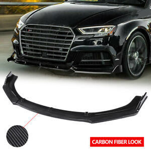 Carbon Fiber Front Bumper Lip body kit Splitter For Audi A3 A4 A5 A7 Q3 RS5 RS7