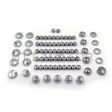 77 Piece Chrome Caps Cover Kit for 04-15 Harley Sportster Engine & Misc Bolt Nut