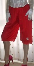Vintage style red soft silky nylon pantie slip~pettipants~culottes 20~22
