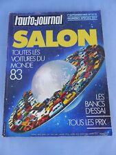 Magazine L' AUTO-JOURNAL toutes les voitures du monde 1982 SALON 1983