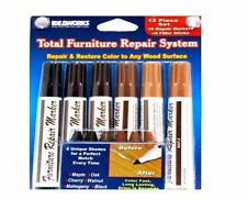 12pc Furniture Repair System Markers Fillers Match Any Wood Surface Maple Oak