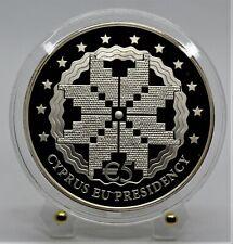 Cyprus 2012 5 Euro Proof Silver Coin - European Union Presidency REAR