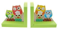 Beautiful Pair of Wooden Owl Bookends