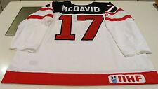 Canada 2015 World Juniors Hockey Jersey IIHF 100th Anniversary Connor McDavid S