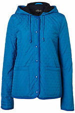 New TOPSHOP hooded quiklted jacket UK 10 in Bright Blue