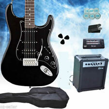 Full Size Black Electric Guitar With Amp Tuner Bag Strap Pickup Package Set