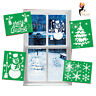 Christmas Stencils Snowman Snowflakes Tree Re-usable Assorted Window Designs