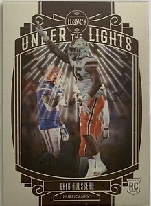 GREG ROUSSEAU (49ERS) 2021 PANINI LEGACY UNDER THE LIGHTS SILVER ROOKIE