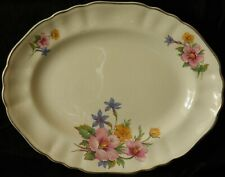 A Vintage J & G Meakin Rose Mallow Oval Serving Plate ~ Sol [Rd.Dn. 391413]