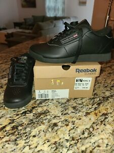 Reebok Classic Princess Black Lace-Up Sneakers Shoes Women's Size 7 new in box
