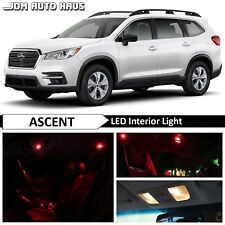 17x Red Interior Map Dome LED Lights Bulbs Package Kit Fits Subaru Ascent 2019
