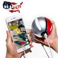Pokemon Go Poke Ball Shape Power Bank 10000mAh, USB LED External Battery Charger