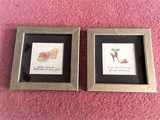 Framed Pictures of Shoes With Inspirational Comments