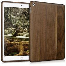 kwmobile Holz Schutz Hülle für Apple Ipad Air 2 Walnussholz Natur Dunkelbraun
