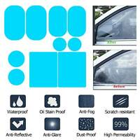 2Pcs Car Rearview Mirror Waterproof Anti-Fog Rain-Proof Film Side Glass Film UK
