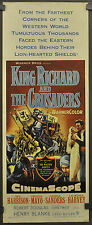 KING RICHARD AND THE CRUSADERS 1954 ORIG 14X36 MOVIE POSTER REX HARRISON