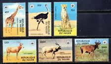 Niger Endangered Species WWF wild animal stamp set Sc. 447-52 mnh vf    35.80