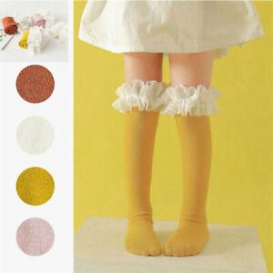 Medium Tube Children's Socks Knee Socks Long Tube Socks Fluffy Yarn Lace Cotton