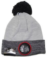 "Chicago Blackhawks New Era NHL ""Heathered Pom"" Cuffed Knit Hat with Pom"