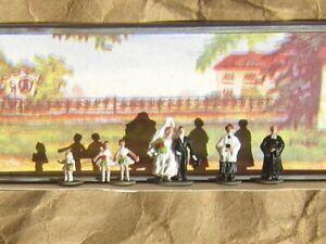 RETIRED ~ Merten WEDDING PARTY People Figures ~ Mayhayred Trains N Scale Lot