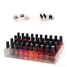 Nail Polish 40 Bottle Holder Organizer Storage Box Case Acrylic Cosmetic Display