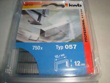 KWB Heftklammern 10,7 x 12 mm Typ 057 Schmalrücken und C-Spitze Stahl 357-112