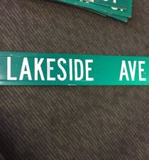 LAKESIDE AVE MA MASS street Road Sign Garage Pub Bar Tavern