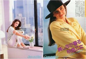 JENNIFER CONNELLY 1988 Japan Picture Clippings 2-SHEETS pi/q