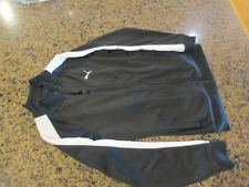 Puma Warm Up Athletic Jacket Boys S Small Black Zip Up Polyester track Running