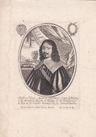 Portrait XVIIe Henri Auguste De Loménie Comte Brienne Ministre  Moncornet