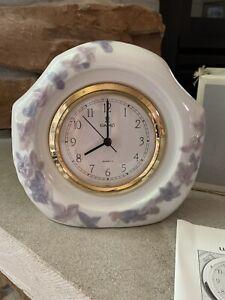 Lladro  Vintage Reloj Lavender Floral Clock