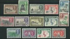 NYASALAND - 1945 KGVI Set 20/- 'SCARLET & BLACK' MLH SG144-157 Cv £85 [A5625]