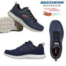 Skechers Mens Track Knockhill Casual Sporty Comfort Memory Foam Walking Trainers