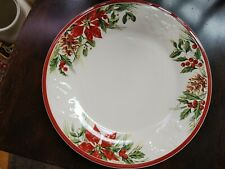 New ListingLongaberger Pottery 1 Nature Garland Christmas Dinner 11.5 Plate