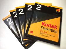"""KODAK 5 PACK 2 DISQUETTES DISK 5.25"""" 5P1/4 2S 2D DOUBLE FACE DOUBLE DENSITE NEUF"""