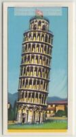 Leaning Tower Of Pisa Bell Tower Italy  Vintage Trade Ad Card