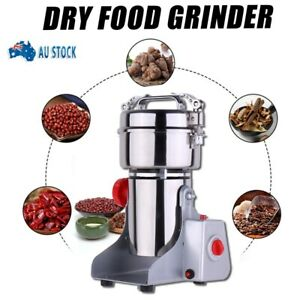 AU 800g Electric Grains Spices Hebals Cereal Dry Food Mill Grinding Machine
